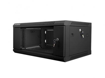 Nástěnný rack 19'' 4U 600X450mm černý flat pack