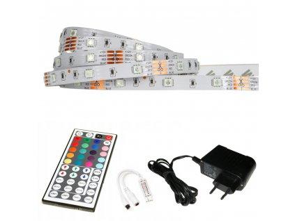 LED pásek RGB - 2,5m - 30LED/m - 7,2W/m - IP20 - SADA - IR44