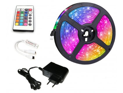 BERGE LED pásek - RGB 5050 - 2,5m - 30LED/m - 7,2W/m - IP20 - SADA