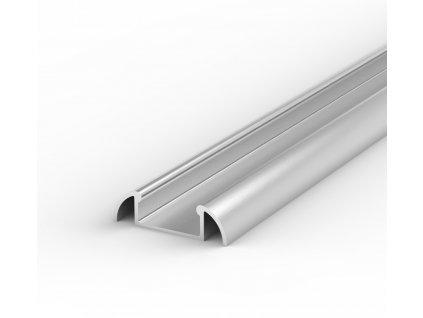 Hliníkový Profil pro LED pásky BRG-2 2m ELOXOVANÝ