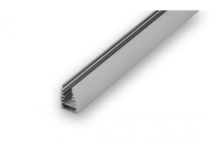 Hliníkový Profil pro LED pásky pro montáž na sklo 1m