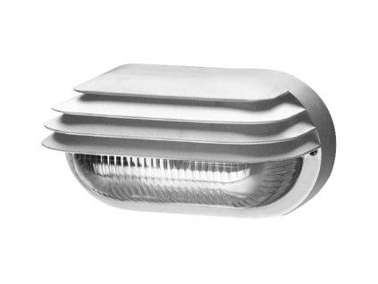 Svítidlo SOG-M-40/B oval grill IP44 bílá mat