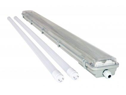 Svítidlo + 2x LED trubice - T8 - 120cm - 18W - studená bílá - SADA