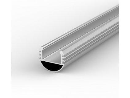 Hliníkový Profil pro LED pásky rohový BRG-8 1m ELOXOVANÝ