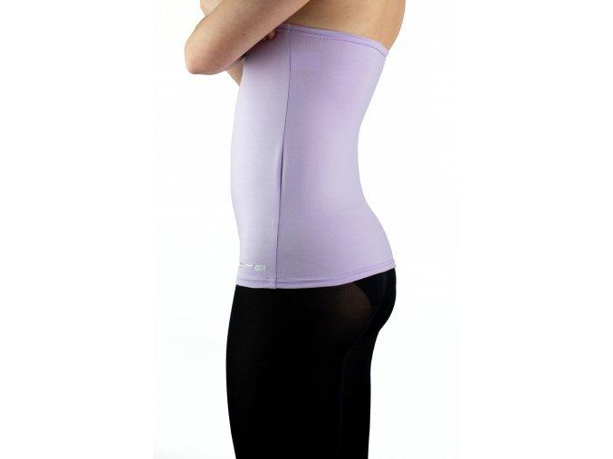 Ledvinový pás BODY -bavlna  barva pastelově fialová