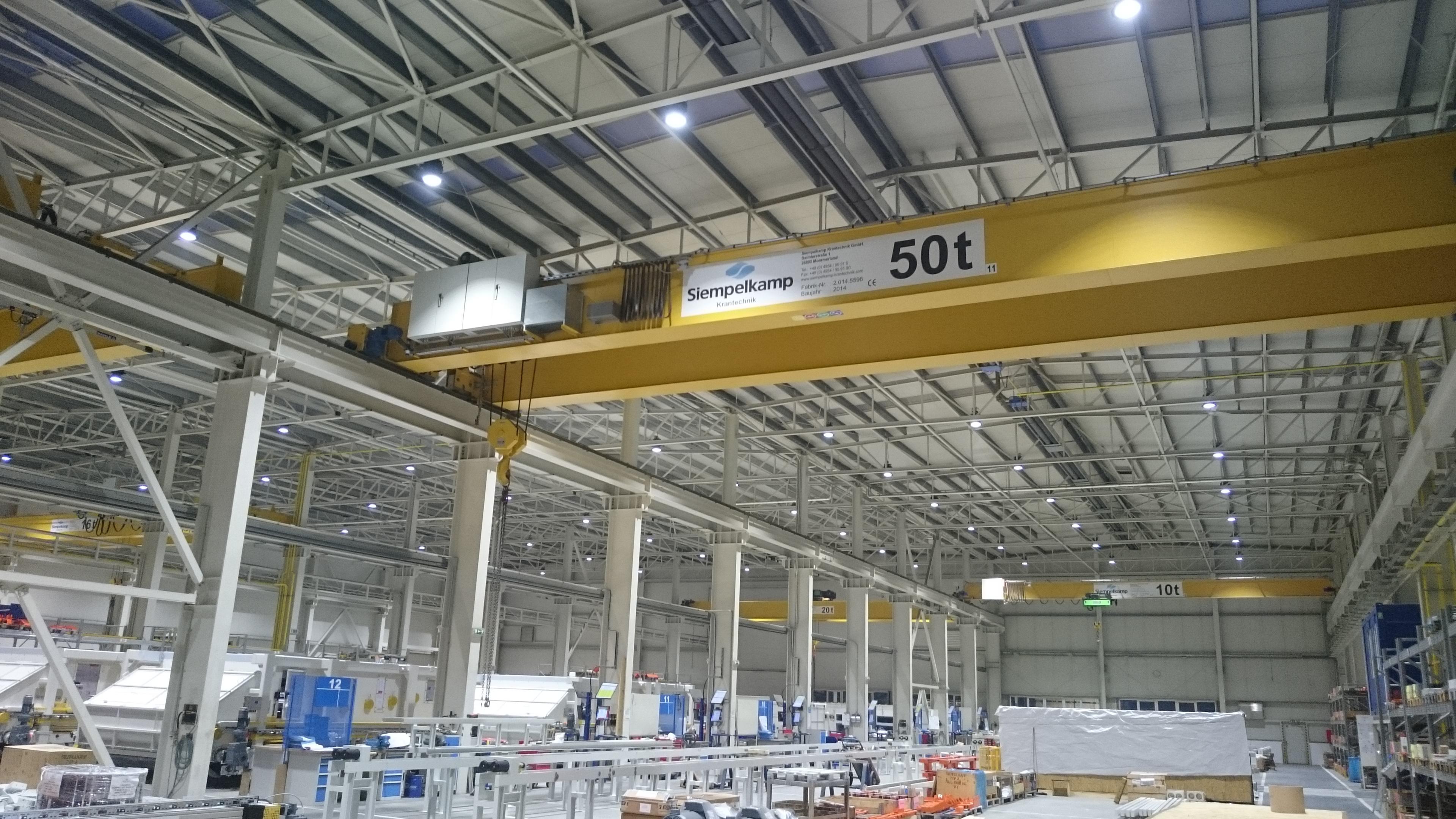 Průmyslová svítidla SIKOV lighting ve výrobě Siempelkamp s.r.o.