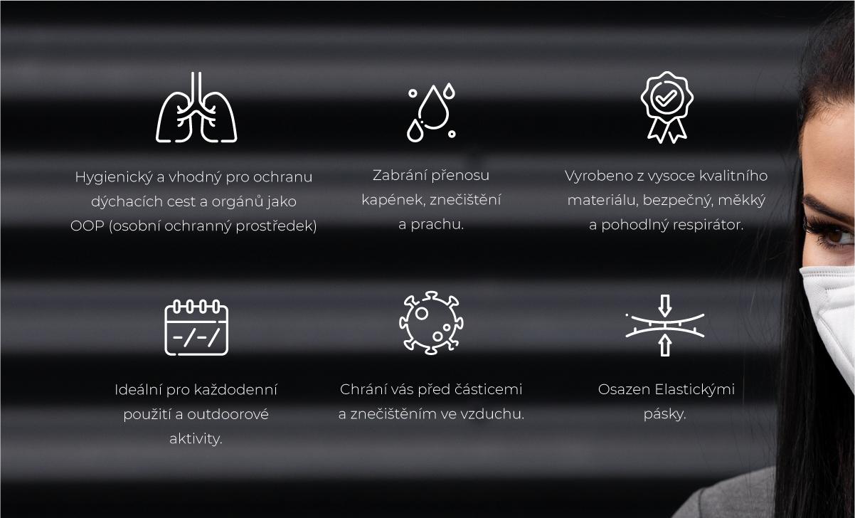 Respirátory SIKOV9501 FFP2