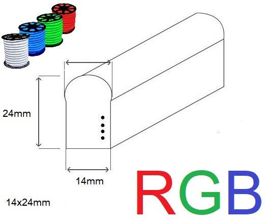 LED neon ECONOMY RGB 14x24mm