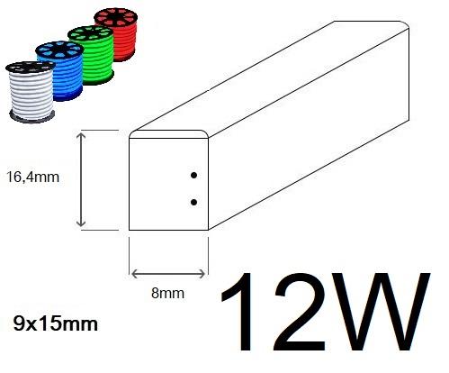 LED neon ECONOMY 12W/m 8x16,4mm