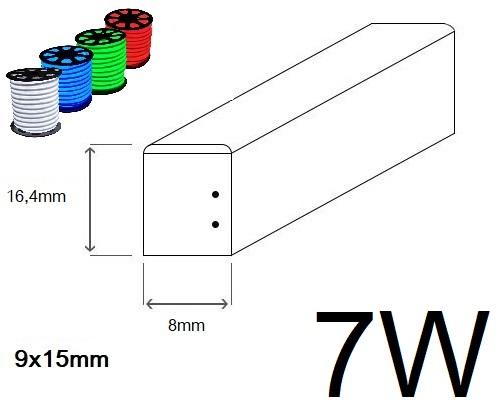 LED neon ECONOMY 7W/m 8x16,4mm