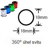 LED neon PROFI kruhový 18mm svit 360°