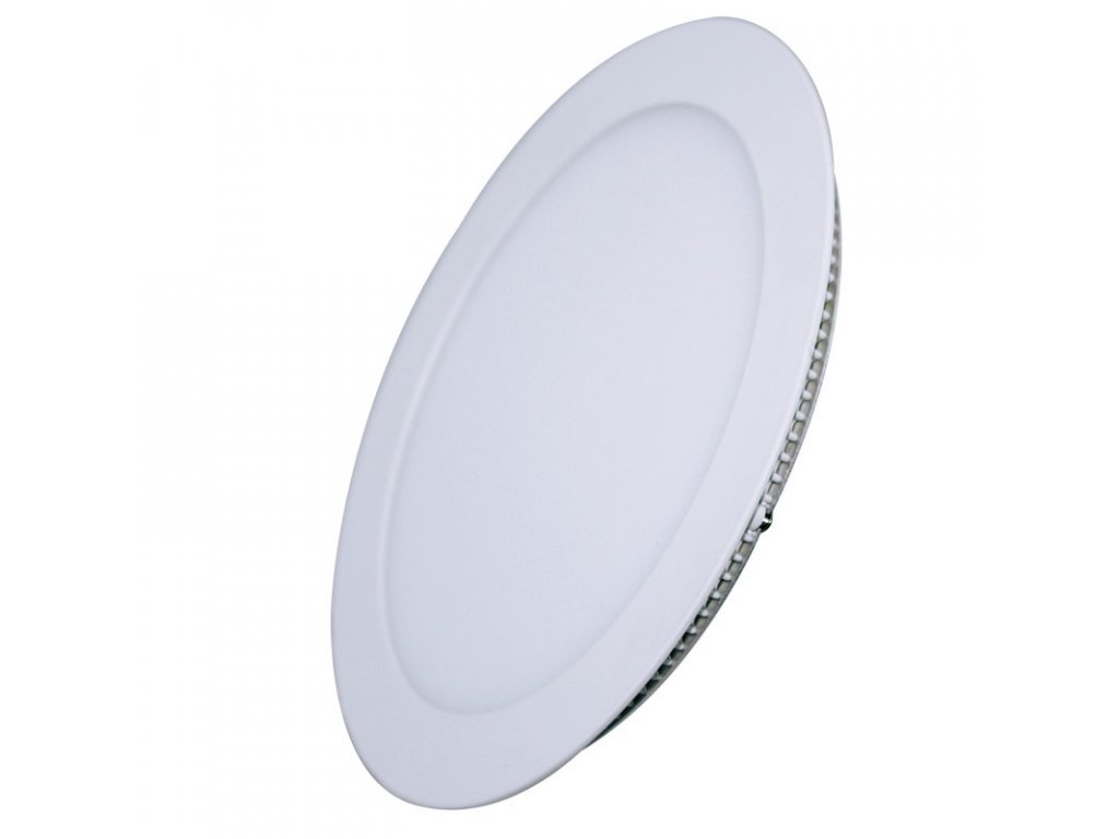 Solight LED mini panel, podhledový, 12W, 900lm, 4000K, tenký, kulatý, bílý