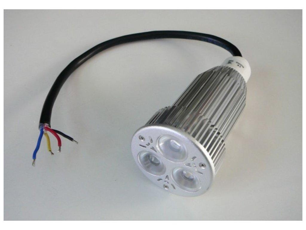 RGB LED žárovka 12W 60° 12VDC - RGB LED žárovka 12W 60° 12VDC
