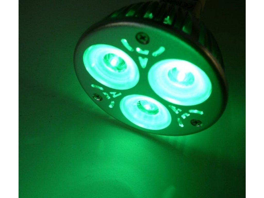 Barevná LED žárovka MR16 - Zelená