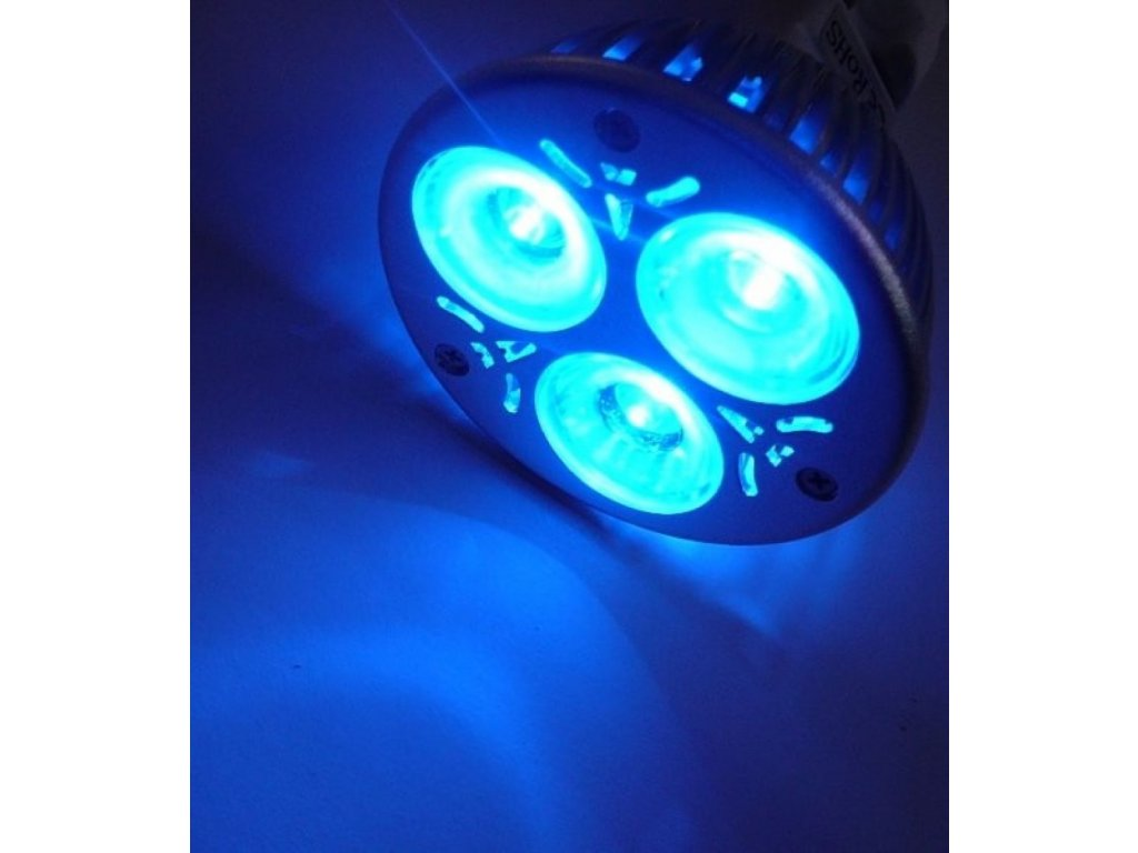 Barevná LED žárovka MR16 - Modrá