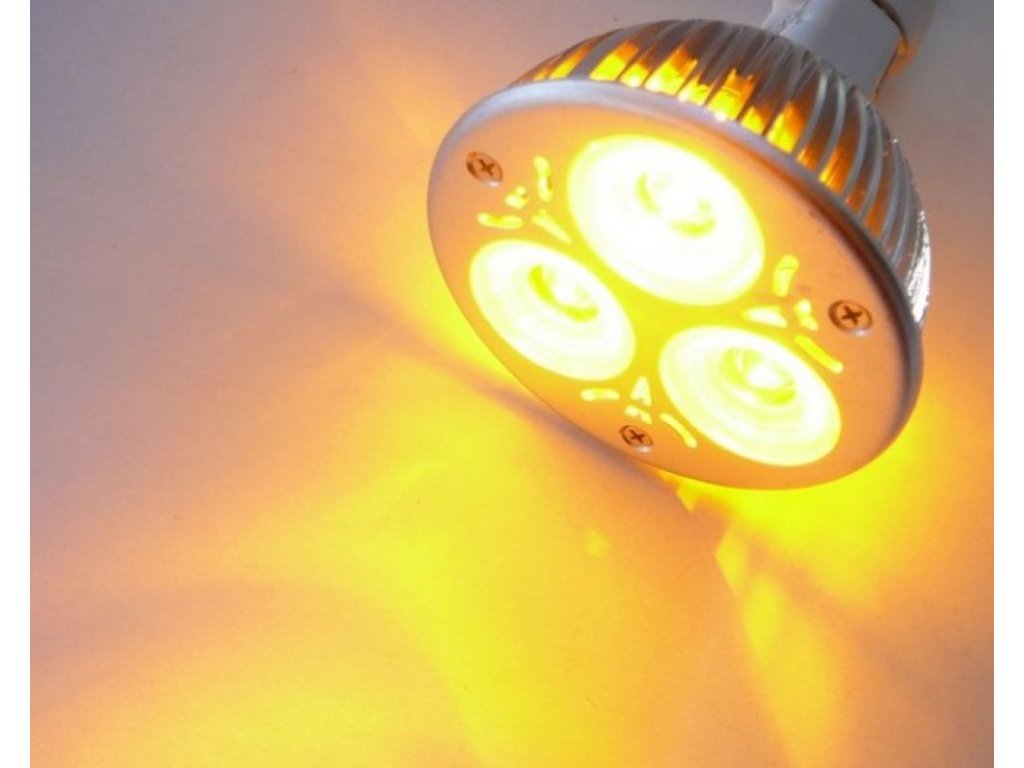 Barevná LED žárovka GU10 - Žlutá