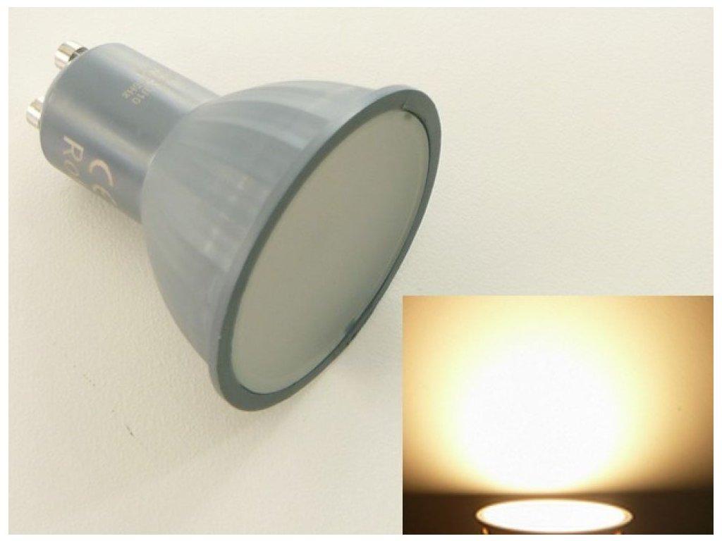 LED žárovka GU10 EL3W - Teplá bílá