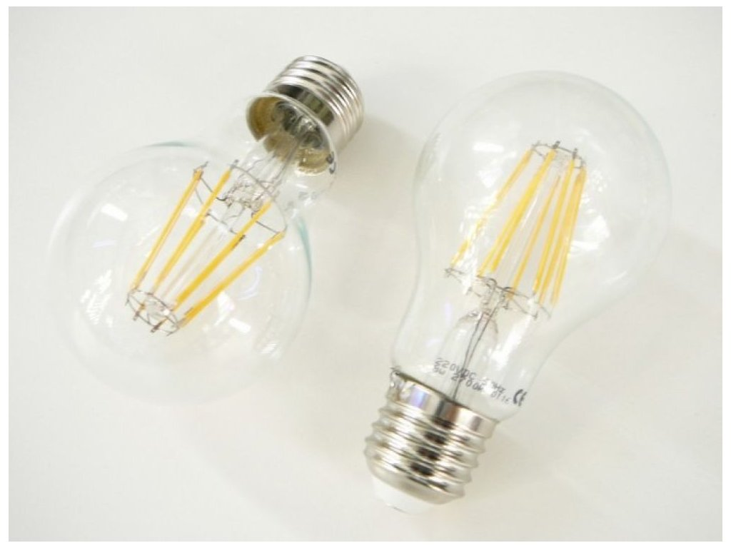 LED žárovka E27 8W FILAMENT - Teplá bílá