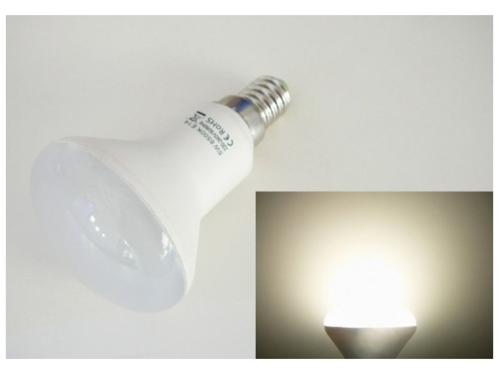 LED žárovka E14 S5W-180 - Denní bílá