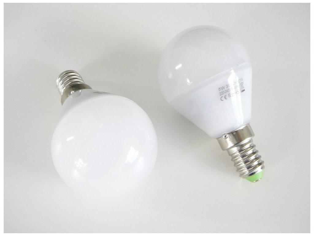 LED žárovka E14 LU5W 260° - Teplá bílá