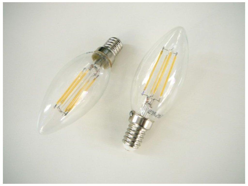 LED žárovka E14 4W FILAMENT - Teplá bílá