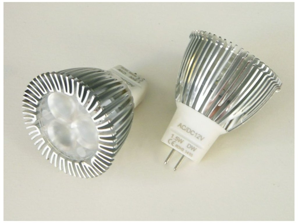 LED žárovka MR11 - 1,5W 60° - Denní bílá