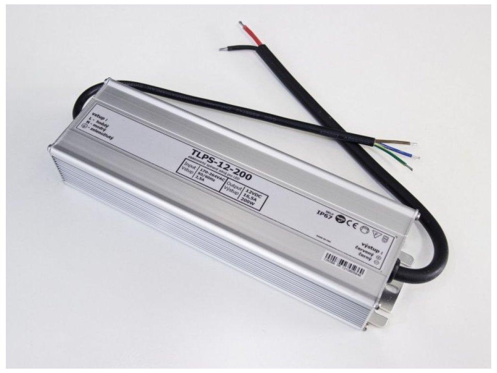 LED zdroj 12V 200W voděodolný IP67 - 12V 200W zdroj IP67 TLPS-12-200