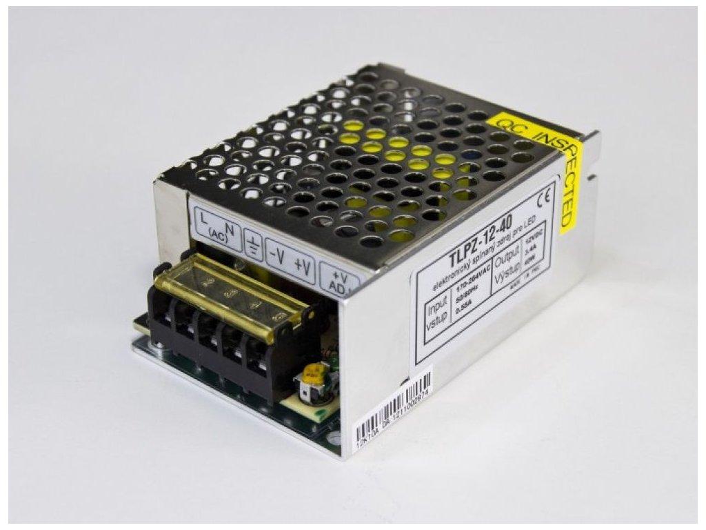 LED zdroj 12V 40W vnitřní - 12V 40W zdroj vnitřní TLPZ-12-40