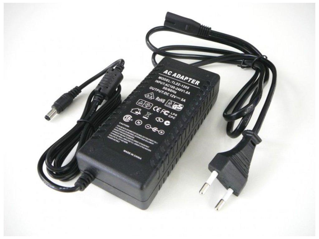 LED zdroj 12V 60W zásuvkový - TLZZ-12V-60W zdroj zásuvkový