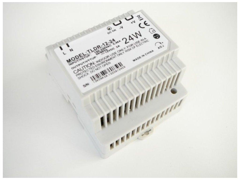 LED zdroj 12V 24W na DIN lištu - LED zdroj 12V 24W na DIN lištu