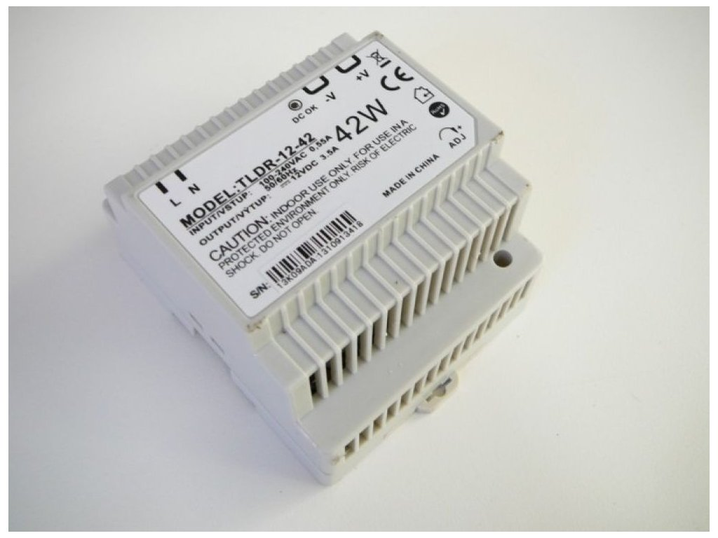 LED zdroj 12V 42W na DIN lištu - LED zdroj 12V 42W na DIN lištu