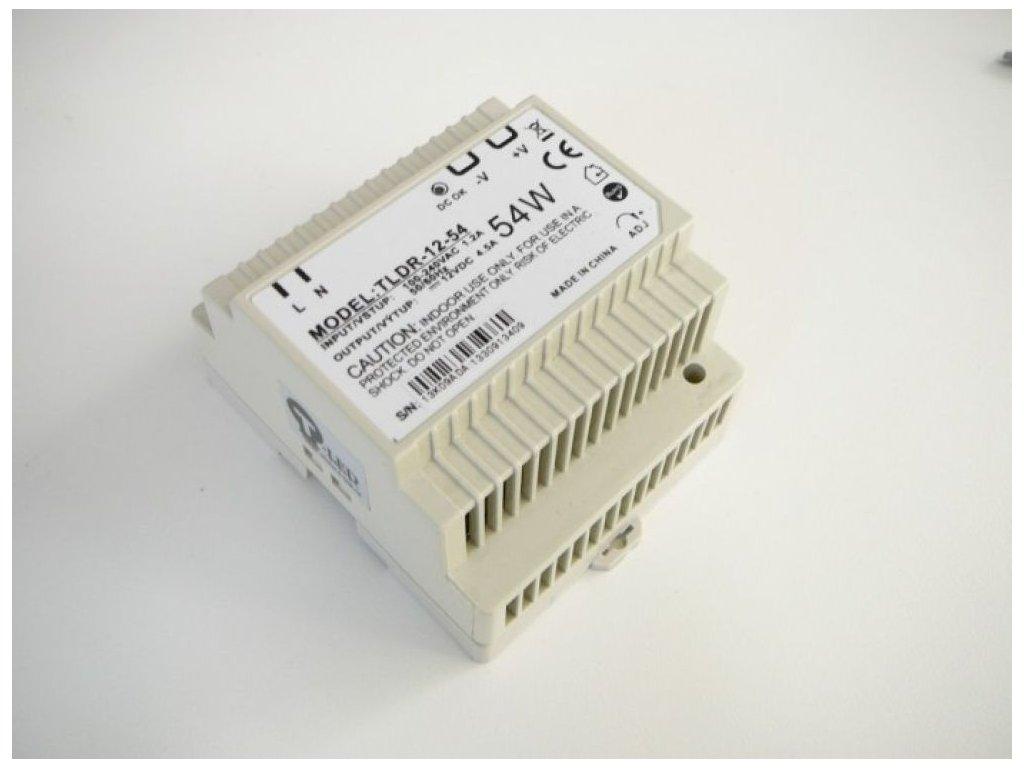 LED zdroj 12V 54W na DIN lištu - LED zdroj 12V 54W na DIN lištu