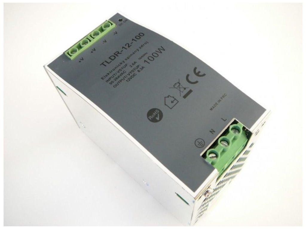 LED zdroj 12V 100W na DIN lištu - LED zdroj 12V 100W na DIN lištu