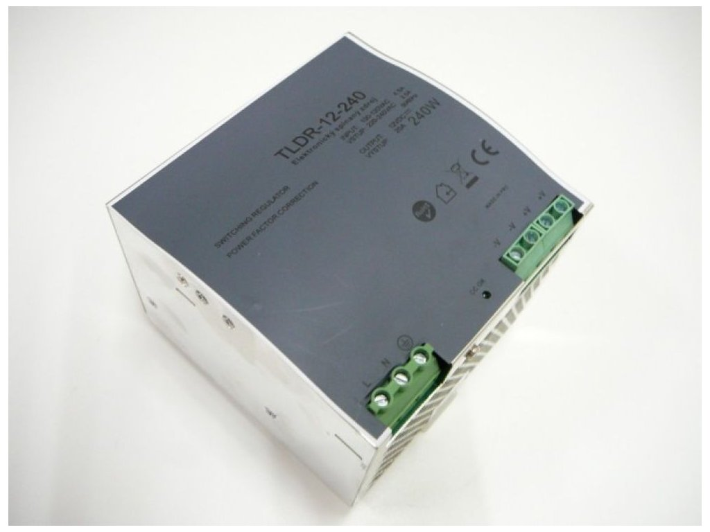 LED zdroj 12V 240W na DIN lištu - LED zdroj 12V 240W na DIN lištu