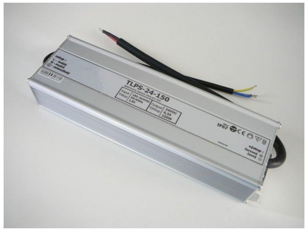 LED zdroj 24V 150W IP67 - 24V 150W zdroj  IP67 TLPS-24-150