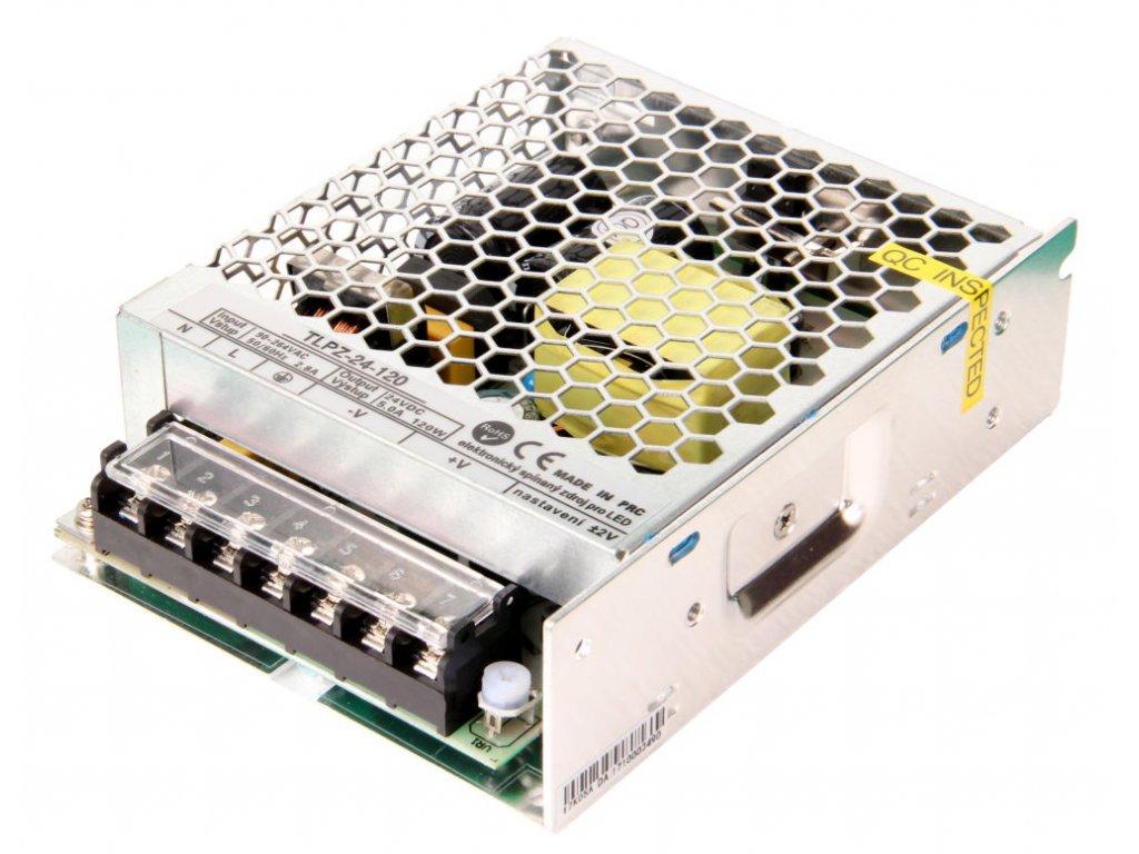 LED zdroj 24V 120W vnitřní - 24V 120W zdroj vnitřní TLPZ-24-120