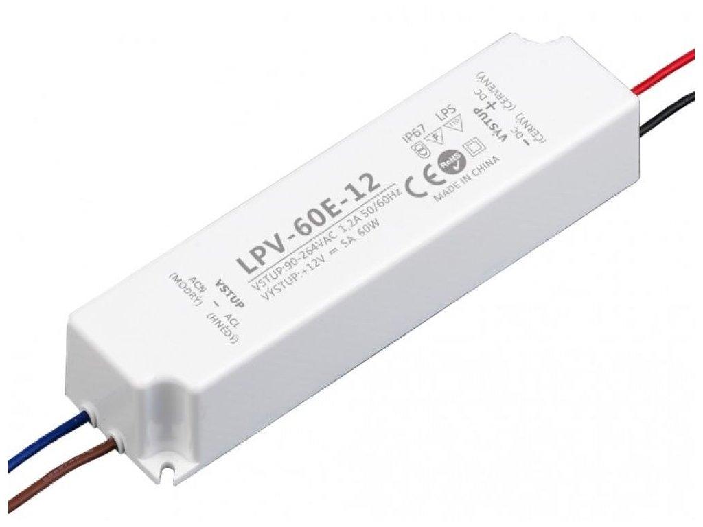 LED zdroj 12V 60W - LPV-60E-12 - LED zdroj 12V 60W - LPV-60E-12
