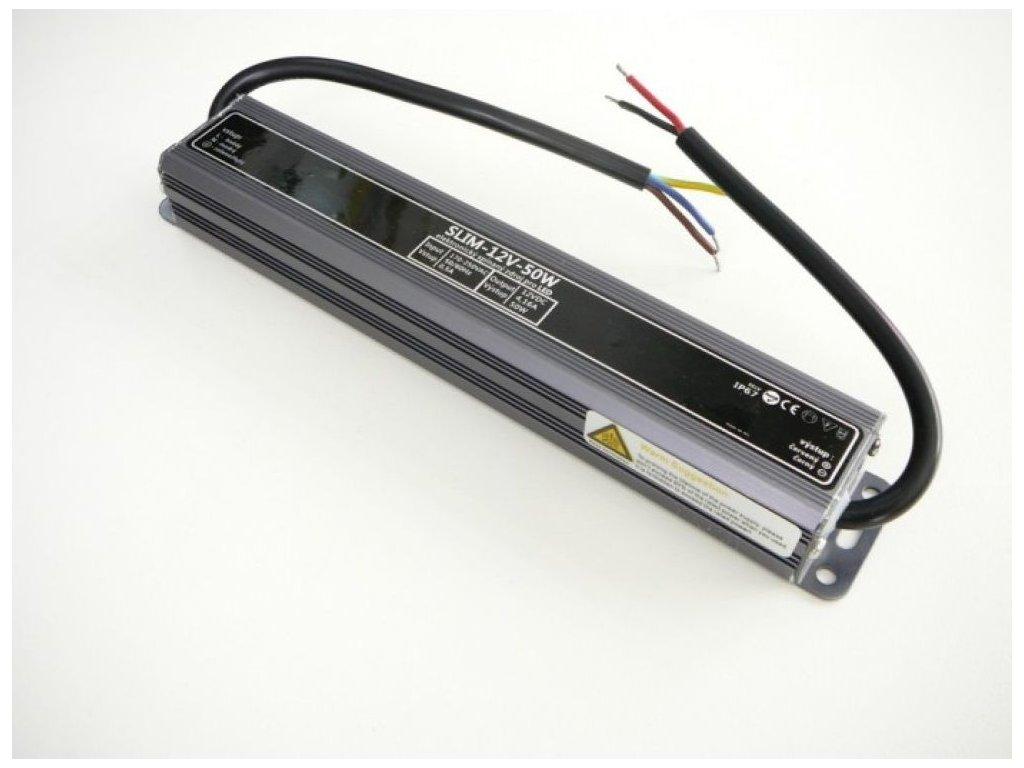 LED zdroj 12V 50W IP67 SLIM-12V-50W - LED zdroj 12V 50W IP67 SLIM-12V-50W