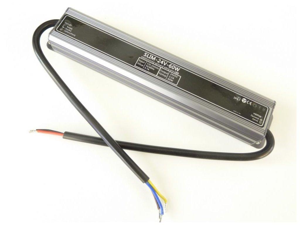 LED zdroj 24V 60W IP67 SLIM-24V-60W - LED zdroj 24V 60W IP67 SLIM-24V-60W