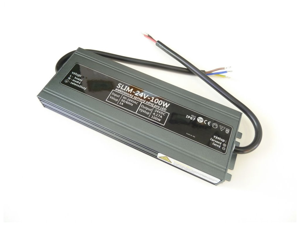 LED zdroj 24V 100W SLIM-24V-100W - LED zdroj 24V 100W SLIM-24V-100W