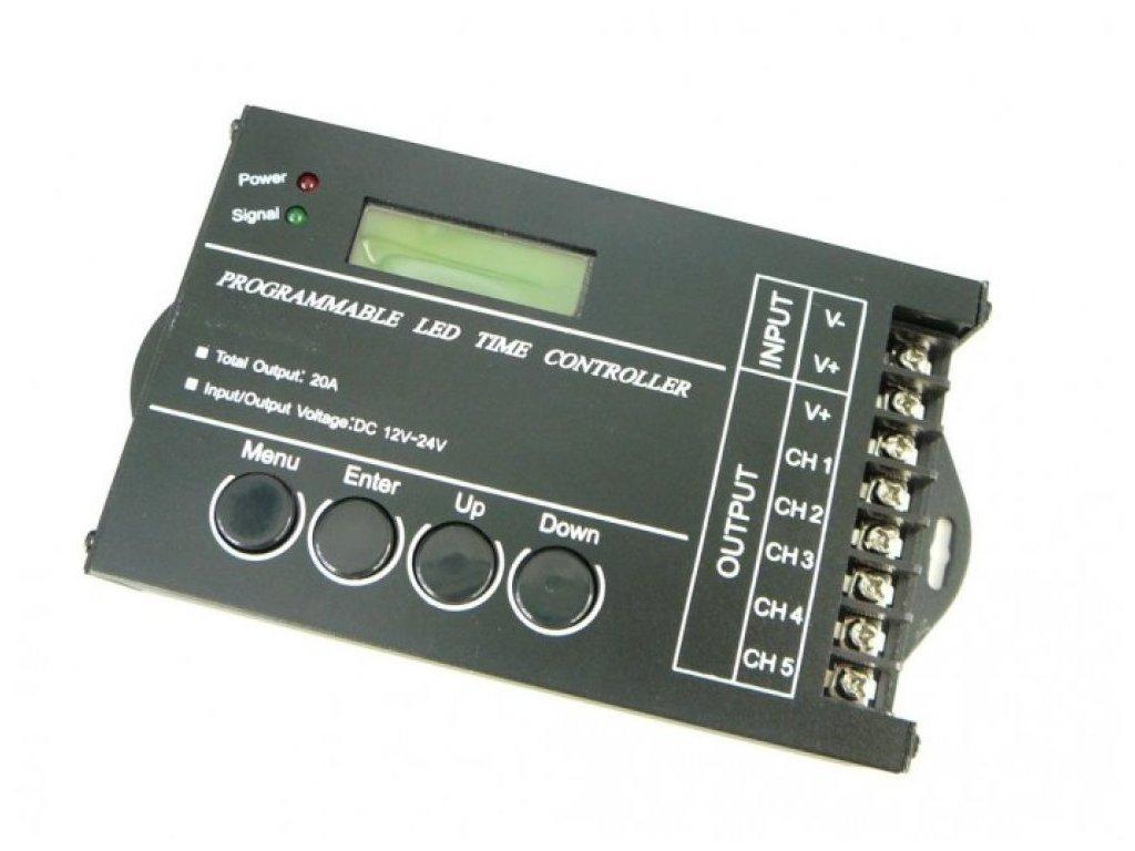 Programovatelný ovladač USB 5CH 20A pro LED - Programovatelný ovladač USB 5CH 20A pro LED