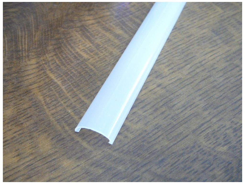 Difuzor ALU profilu TUBE - TUBE -2m opál difuzor
