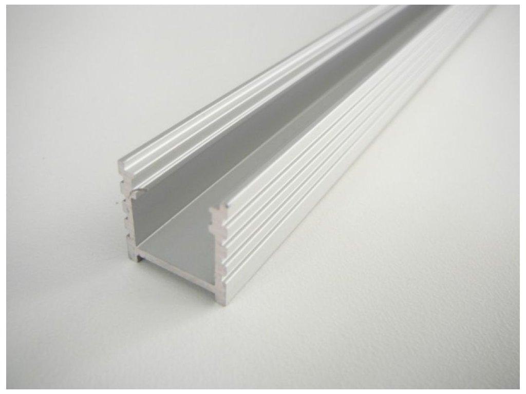 LED profil N4 - nástěnný - Profil bez krytu 1m