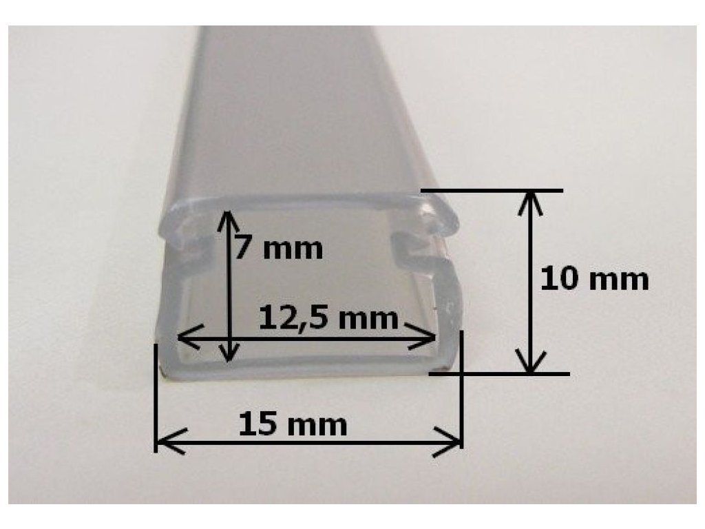LED profil FLEX - Profil s krytem 1m