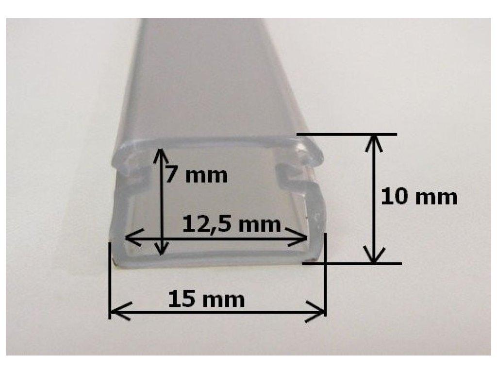LED profil FLEX - Profil s krytem 2m