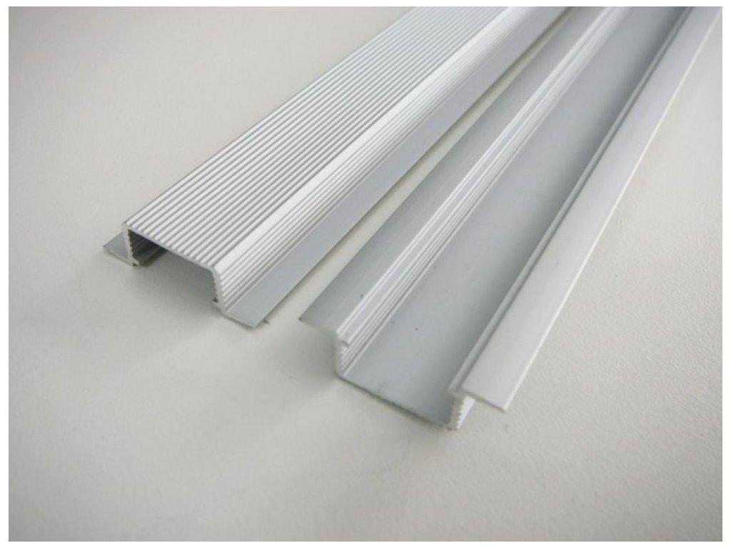 LED profil V5 - vestavný - Profil bez krytu 2m