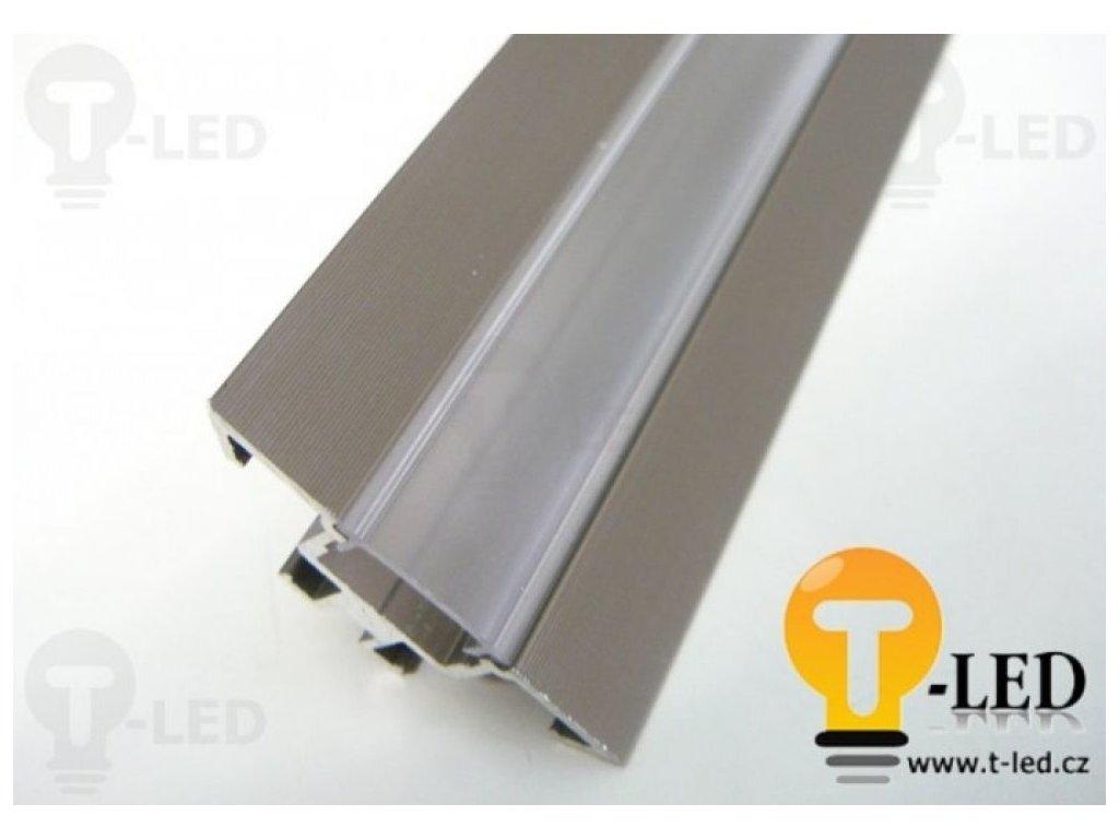LED profil R1B - rohový - Profil bez krytu 1m