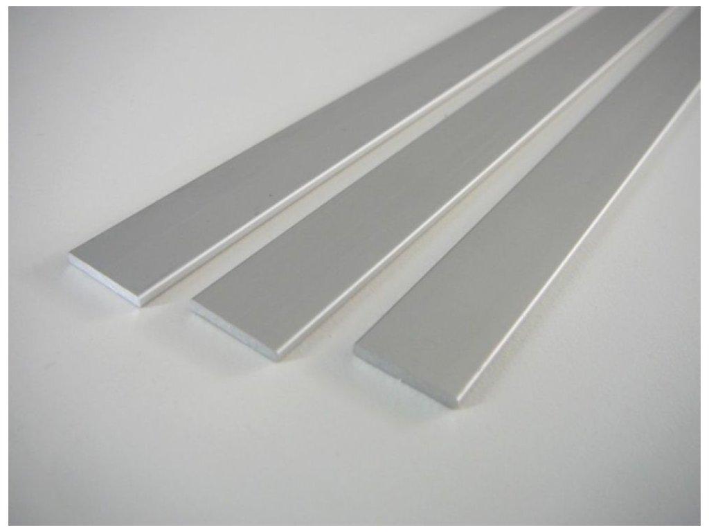 LED profil plochý ELOX 15x2 a 25x2 mm - 15 plochý - 2m ELOX 15x2mm