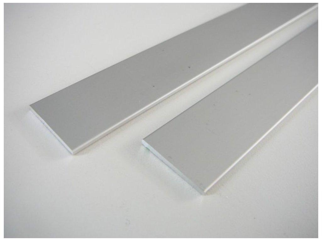 LED profil plochý ELOX 15x2 a 25x2 mm - 25 plochý - 1m ELOX 25x2mm