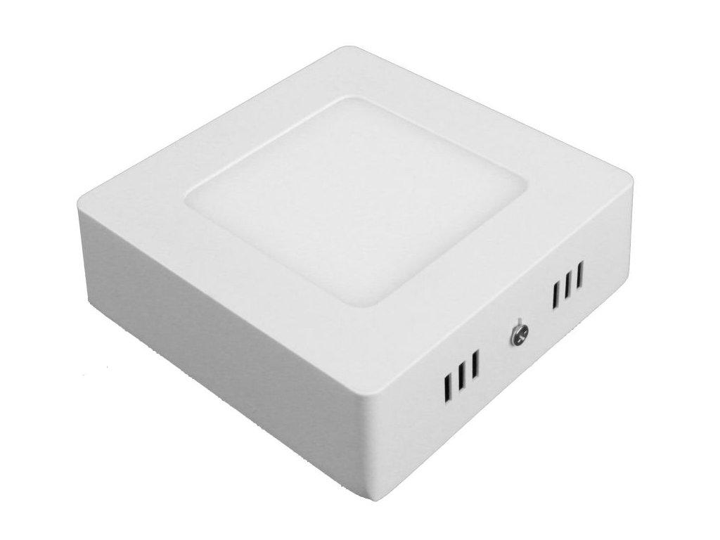 PS6 LED panel 6W přisazený čtverec 115x115mm - Studená bílá